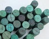 DIY Craft Corks - wine cork supplies - craft supply - Green Craft Corks - 24 recycled corks