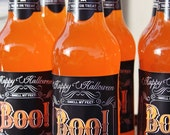 Boo Glass Bottle Wraps Frighteningly Fun Fest Collection by Loralee Lewis
