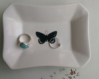 Ring Holder/Jewelry holder/Catchall/Key Tray/Change Holder/Butterfly Dish