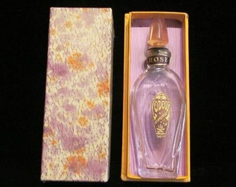 Art Deco Perfume Bottle 1920s Rose L'Odeur Perfumes Bottle In Original Box Excellent Condition
