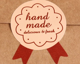 Baking Cookies Stickers - Handmade Delicious and Fresh Words Label Sticker Wedding Sticker Cookie Seal Envelope Stickers Wedding Favors
