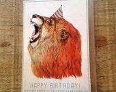 Birthday Lion // Greeting Card