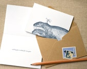 Wishing You a Whale of a New Year. (in five letterpress printed cards & envelopes)