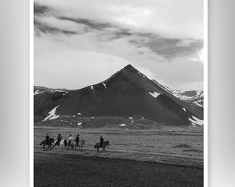 Grey Scale Photo Landscape Iceland Oversized Print Home Decor Engineering Print Travel Adventure