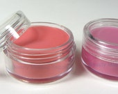 25 Lip Balm Containers Plastic Cosmetic Jars -  10 Gram (Clear Lids) 5067-25 | FREE US shipping