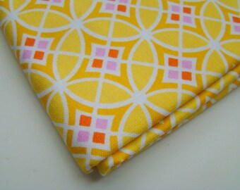 Monaco by Dena Designs Circle Pane Yellow Fabric, OOP Fat Quarter