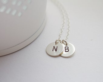 Silver initial necklace,Silver Personalized, Monogram bracelet, initials, children, mother, bridal, wedding jewelry, gift, bridesmaid gift