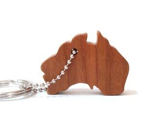 Wood Australia Silhouette Key Chain Country Outline Key Ring Australia Key Fob