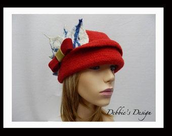 Women's Handmade Felted Hat-82 Women's Felted Cloche Hat, Felted Cloche Hat, Accessories, Hat, Handmade, cloche felt hat, Downton abbey