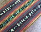 Guatemalan Ikat Fabric in Woodland Hues