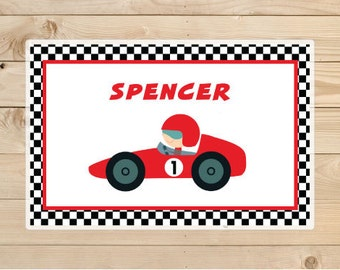 Kids-Personalized-Placemat-Personalised-Car-Placemat-Race car tableware