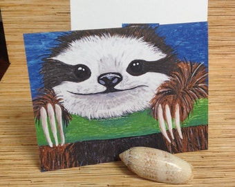 Sloth Blank Notecards