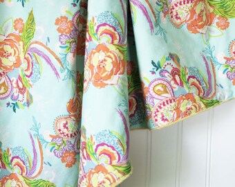 Minky Baby Blanket - Feathered Floral - Personalization Available - Toddler Blanket - Floral Baby Blanket