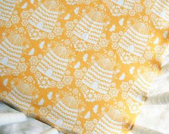 Bee Crib Sheet - Honey House - Fitted Crib Sheet