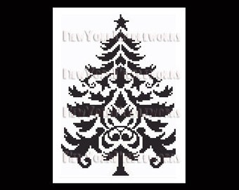 Christmas Tree Cross Stitch, Christmas Tree Silhouette, Cross Stitch, Christmas Cross Stitch, Christmas Silhouette from NewYorkNeedleworks