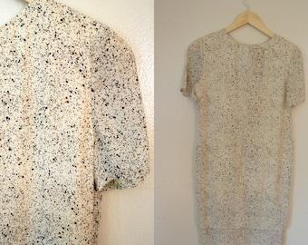FREE USA SHIPPING / Vintage Bill Blass Dress / 80s Silk Shift Dress