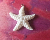 Hand carved starfish  .. this bead is stunning with surgical steel loop