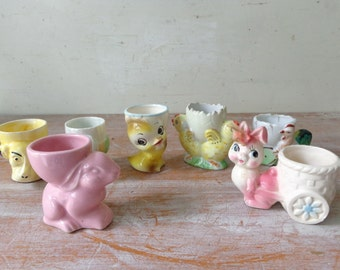 VIntage Egg Cup Collection - 8 Egg Cups