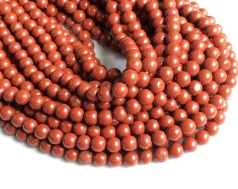5 Strands WHOLESALE Red Jasper Stone, Natural Red Jasper Rondelle, Jasper Beads, Red Jasper Necklace, 6.5mm Beads, 13 Inch, Gemstone