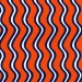 Navy and Orange Waves by Fabric Finders