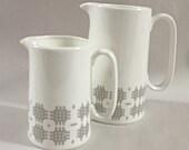 Welsh blanket inspired pint bone china jug.