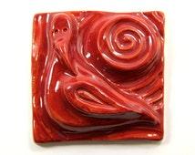 Ceramic Bird Tile - 4 inches