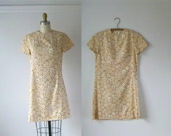vintage 1960s dress / 60s dress / Flower Child