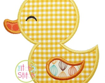 """Rubber Duck Applique Design, shown with our """"Girls Have Many Secrets"""" Font NOT Included,  INSTANT DOWNLOAD now available"""