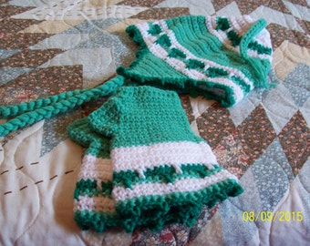 Ladies' Earflap Hat and Fingerless Texting Gloves