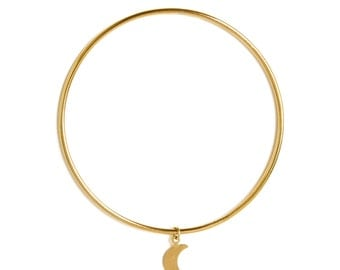 "ELEMENTS II - Gold plated bangle bracelet ""Moon"" (ELBR01)"