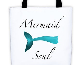 Mermaid Tote Bag Soul Summer Fashion Beach Style Island by Wave of Life™