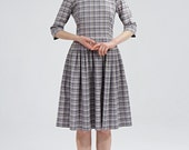 Boat neck dress with lace peter pan collar by Mrs Pomeranz