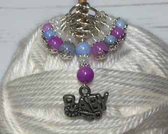 Snag Free Beaded Stitch Markers- Knitting for Baby Set- Gift for Knitters