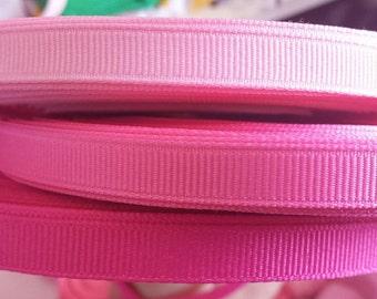 3/8 inch width grosgain ribbon-pinks
