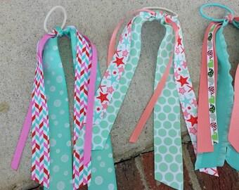 Starfish, whales, or herringbone  streamer ribbons