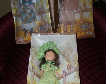 """Whole Set Holly Hobbie Hobby Amy Carrie Vinyl Doll Mint In Box MIB 11"""""""