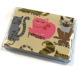 Card Case Mini Wallet Feline Friends