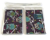 Luggage Tags Set of 2 Owls on a Branch
