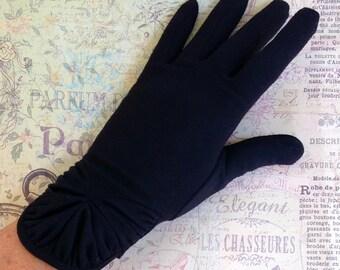 1950s Black Gloves