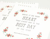 Wedding Guest Book Alternative, Personalized Wedding Guest Calendar, Perpetual Calendar, Large Size// FOLKLORE