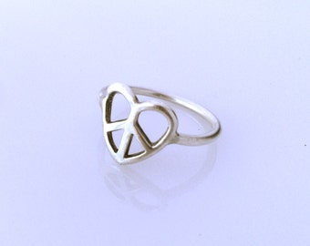 Peace Heart Ring