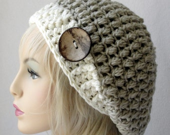 CROCHET  Hat Pattern, Adult/Teen Size, Steamed Pudding Slouch Hat, Crochet Slouch Hat Pattern