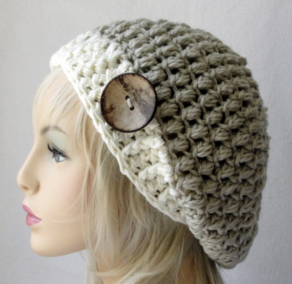 CROCHET Hat Pattern Adult/Teen Size Steamed Pudding Slouch