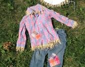 Raffia Scarecrow Costume size 2T