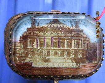 French Casket with Picture of the Paris Opera House c1900
