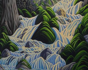 Thirsty Cedar, 8X10, art print, canadian artist, ready to frame