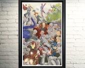 Age of Ultron art print, Avengers poster