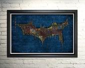 The Dark Knight Movie Poster Word Art Print