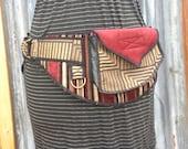 Red Maze - Pocket Belt - Utility belt - Hip bag - Festival - Bohemian - Burlesque - Renaissance - Burning man - Fanny pack