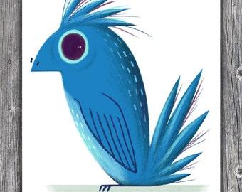 Blue Bird - 8.5 x 11 print